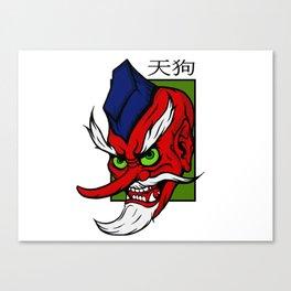 Demonic Tengu Yokai Anime Style Canvas Print