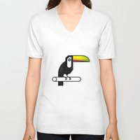 toucan V-neck T-shirts featuring Toucan by martiszu