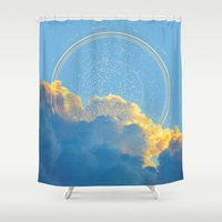 constellation Shower Curtains featuring Create Your Own Constellation by soaring anchor designs