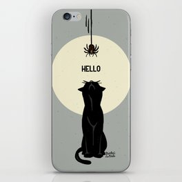 Spider and cat iPhone Skin