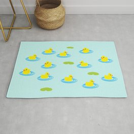 Rubber Ducks Pattern Rug