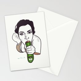 Unknown Celebrity with Pickle Stationery Cards