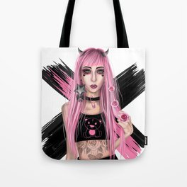 Punk Devil Tote Bag