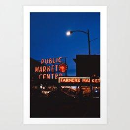 Neons in Seattle Art Print