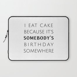 Birthday Cake Laptop Sleeve