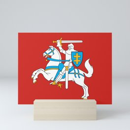 State Flag of Lithuania Knight On Red Mini Art Print