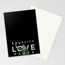 Equality, Love, Peace Stationery Cards