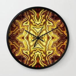 Abstract #1 - VII - Glow Wall Clock