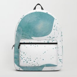 Decorative White Overlay Turquoise Marble Buttefly Backpack