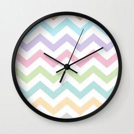 Rainbow Lines Wall Clock