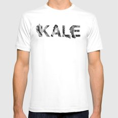Kale White Mens Fitted Tee MEDIUM