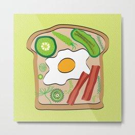 Egg on Toast Metal Print