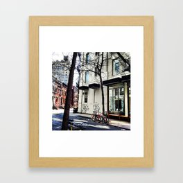 Bike in the West Village Framed Art Print