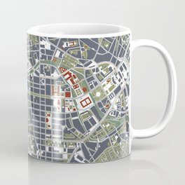 Berlin city map engraving Coffee Mug