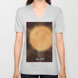 Tau Ceti space art poster. Unisex V-Neck