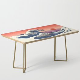 The Great Wave of Pug Coffee Table