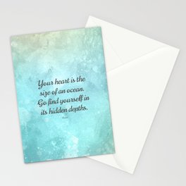 Your heart is the size of an ocean, by Rumi Stationery Cards