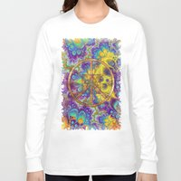 hippy Long Sleeve T-shirts featuring Hippy 1 Psychedelic by BohemianBound