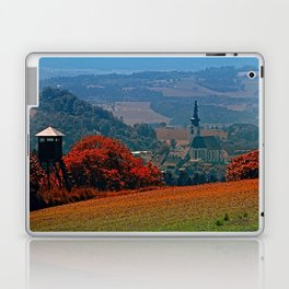 A hunting perch, a village and some vivid scenery Laptop & iPad Skin