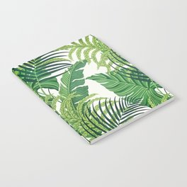 Green tropical leaves II Notebook