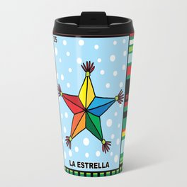 Christmas Loteria La Estrella Travel Mug