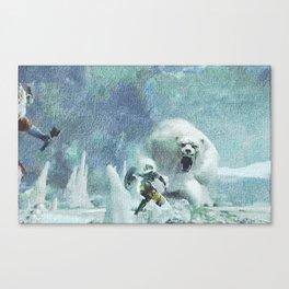 Scaring bear - 吓唬马 Canvas Print