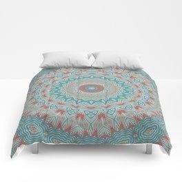 Tribal Medallion Teal Comforters