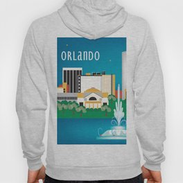 Orlando, Florida - Skyline Illustration by Loose Petals Hoody
