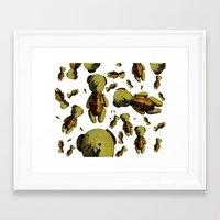 teddy bear Framed Art Prints featuring Teddy-bear by Кaterina Кalinich