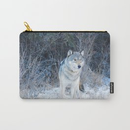Grey Wolf in the Canadian Rocky Mountains Carry-All Pouch
