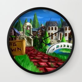 RPG Town Wall Clock