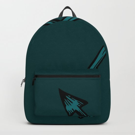 Crossed Arrows in Teal by whitttwill