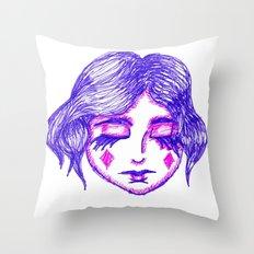 Fool of Diamonds Throw Pillow