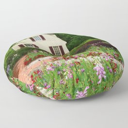 Cottage Garden - Colonial Williamsburg Floor Pillow
