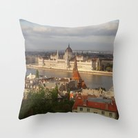 budapest Throw Pillows featuring Budapest by Karina Shah