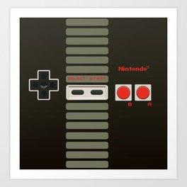 NES Controller Art Print