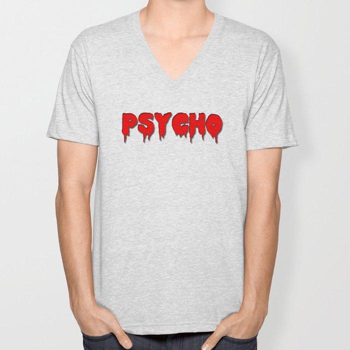 Psycho in red Unisex V-Neck
