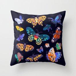 Butterflies Day Throw Pillow