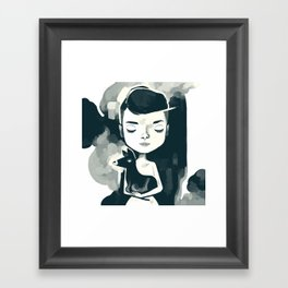 Audrey pet deer Framed Art Print