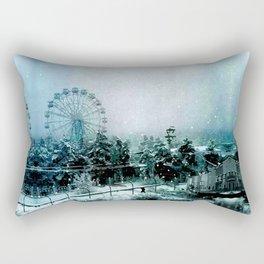 Cold Forest Playground Rectangular Pillow
