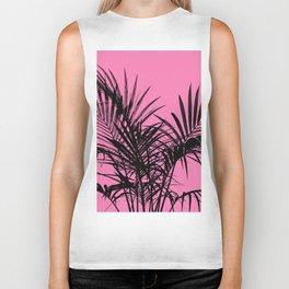 Little palm tree in black with pink Biker Tank