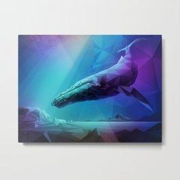 Leviathan (Multi-Blue) Metal Print