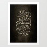 The Best Way - Typography Art Print