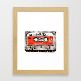 mixtape 80s Framed Art Print