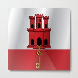 Flag of Gibraltar Metal Print
