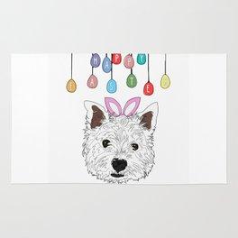 Happy Easter - Westie Bunny Rug