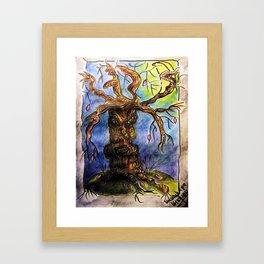 Gnarly Tree Framed Art Print