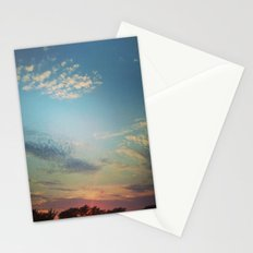 Dark Clouds File in When the Moon is Near Stationery Cards
