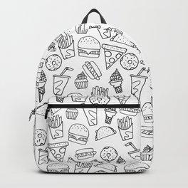 Fast Food Monoline Doodles Backpack