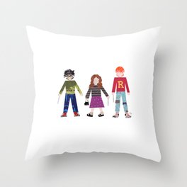 Harry, Hermione, and Ron Throw Pillow